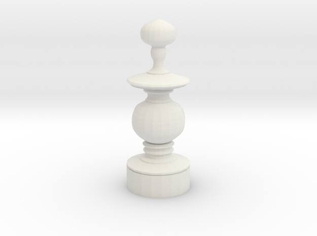 Smaller Staunton Bishop Chesspiece 3d printed