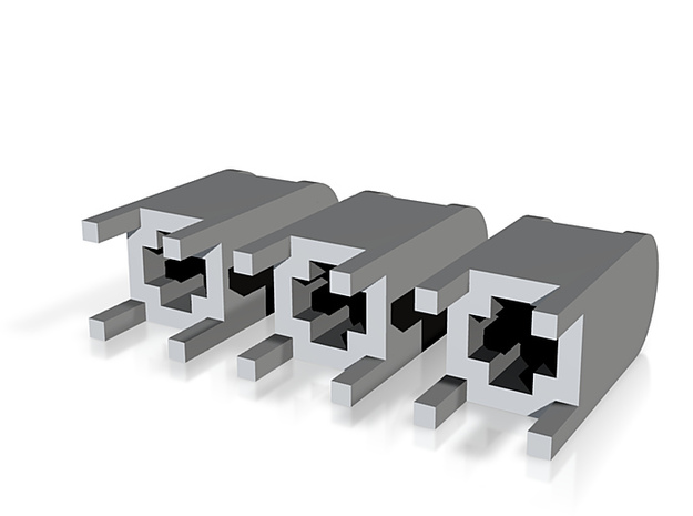 US104 - Public Mailbox set (H0)(price reduction) 3d printed