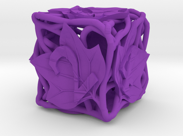 Botanical Die6 (Tulip Tree) 3d printed