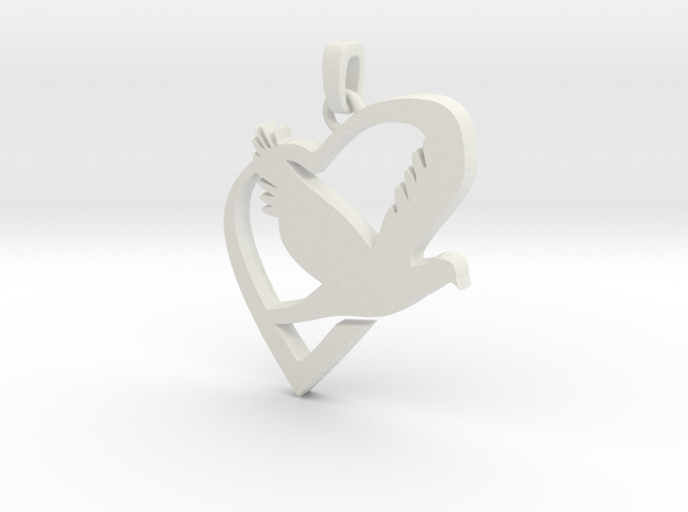 Love & Peace Pendant 3d printed