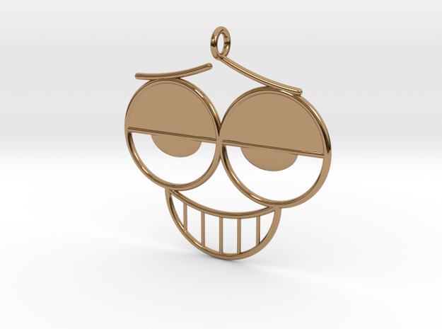 The Grin Pendant/Earring 3d printed