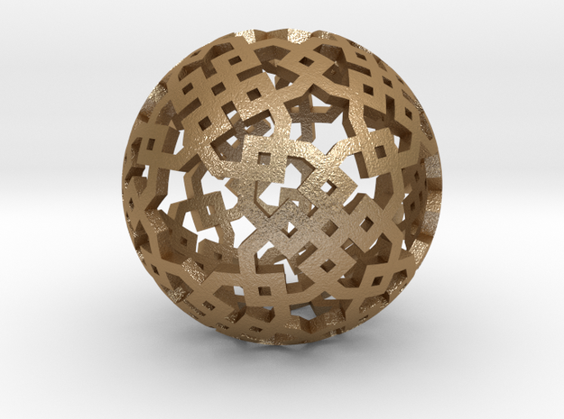 Cubical two-point pattern 3d printed