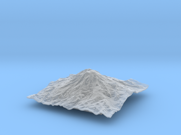 4'' Mt. Rainier Terrain Model, Washington, USA 3d printed