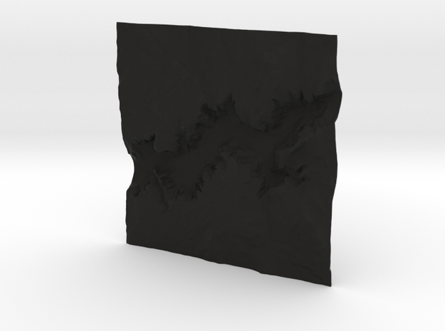 8'' Yosemite Valley Terrain Model, California, USA 3d printed