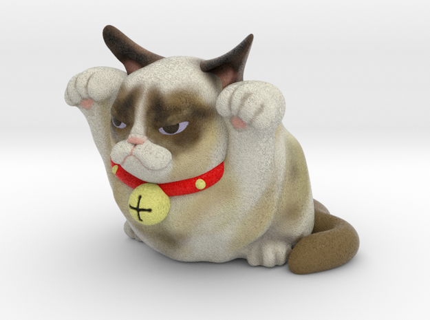 Good Luck Cat Both Paws Up, Maneki-neko 3d printed