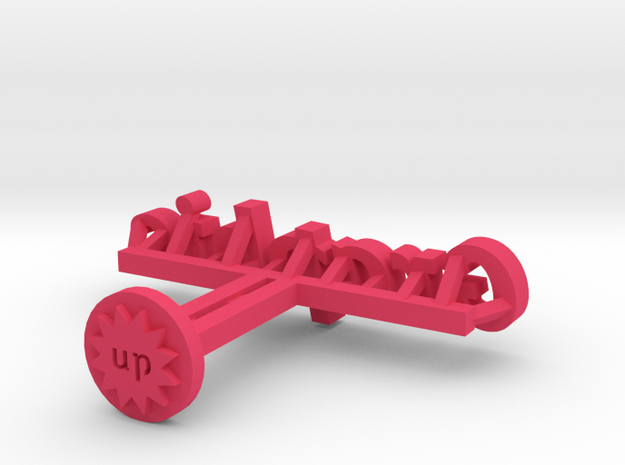 Graphic Typelink 3d printed