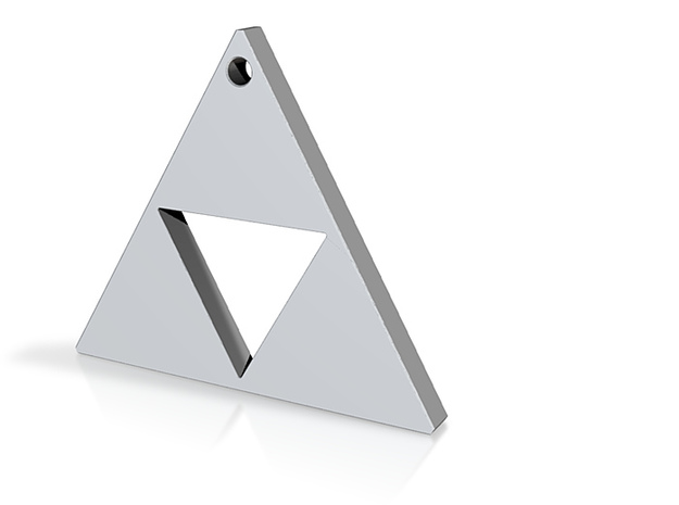 Triangle Earrings or Charm 12mm 3d printed
