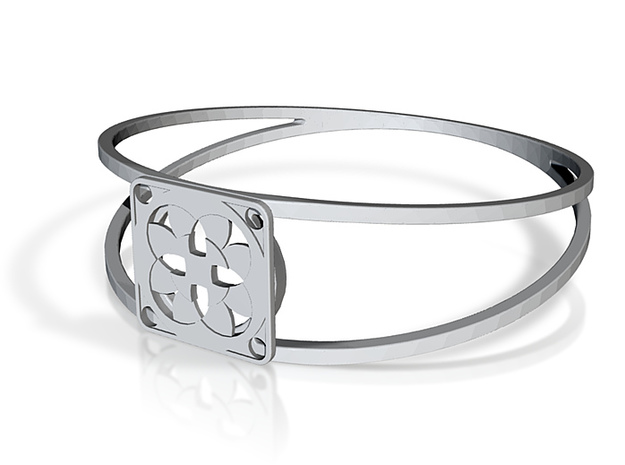 Elegant Bangle - Four Fountains 3d printed