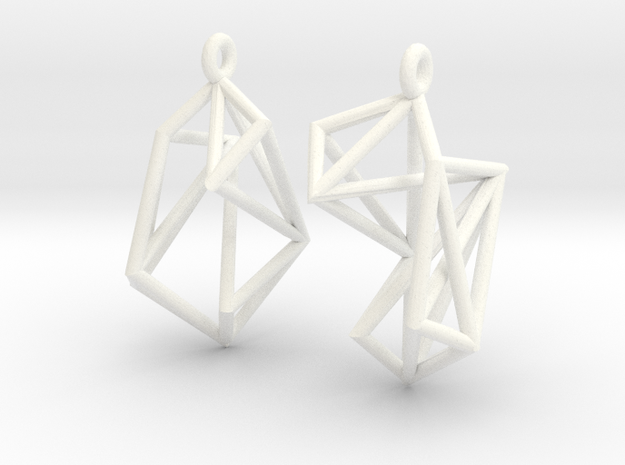 Radical Earrings 3d printed BS&F