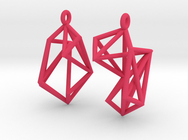 Radical Earrings 3d printed