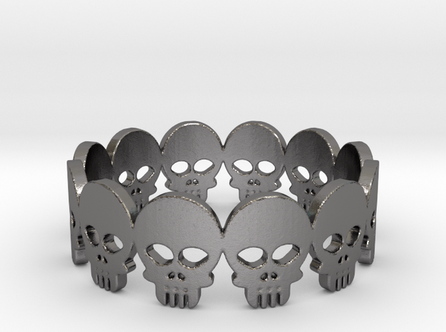 Skull Ring - Size 10 3d printed