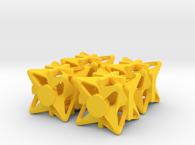 Fudge Pinwheel Die6 4d6 Set 3d printed