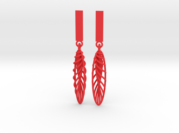 Quark Earrings - Feathers (1rT4FO) 3d printed