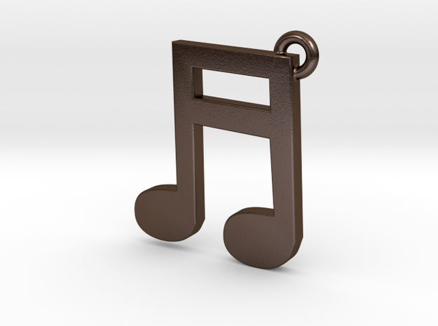 Music Note Pendant 3d printed