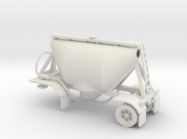 HO 1/87 Shorty Dry Bulk Trailer 07a (no dolly) 3d printed