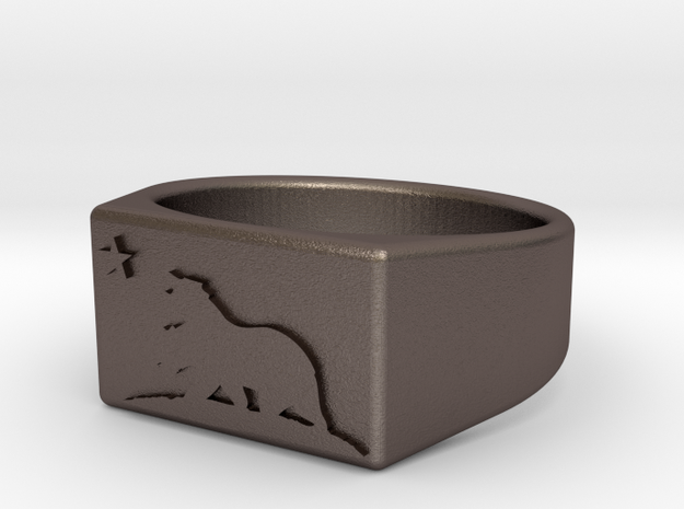 Size 9 - New California Republic ring 3d printed