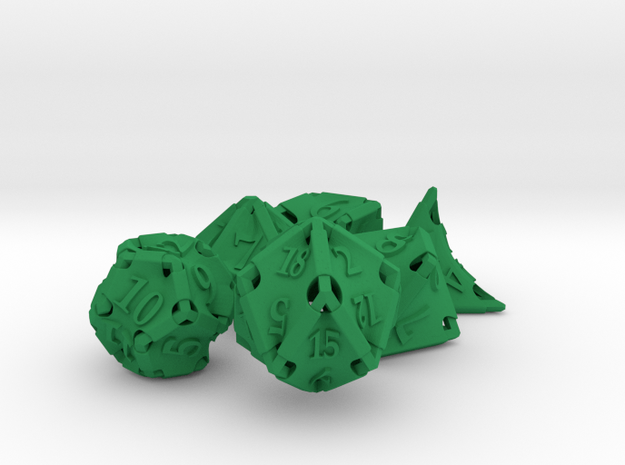 Stretcher Dice Set 3d printed
