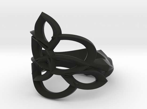 Celtic Flower Ring 3d printed