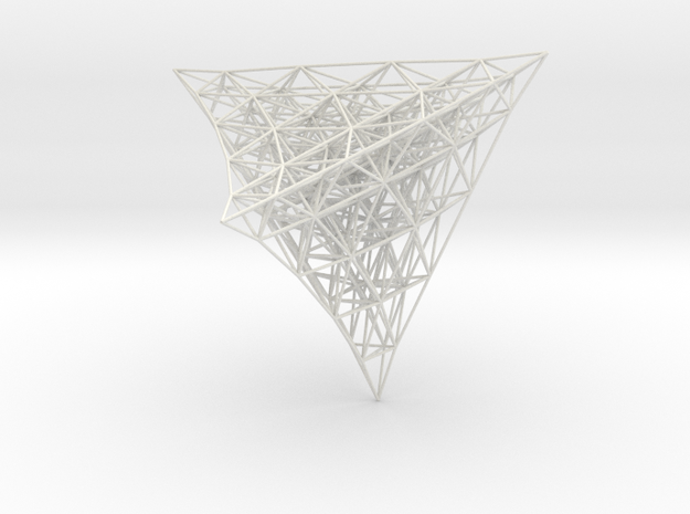 Projection of 4D lattice 3d printed