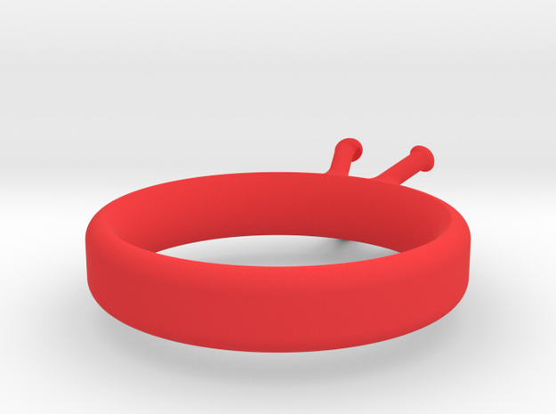 'Couture' Classic Four Claw Ring 3d printed