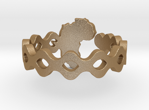Love Africa Ring Size 8 3d printed