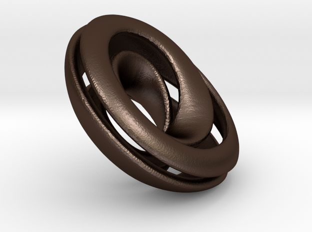 Split Mobius band - 23 mm round 3d printed