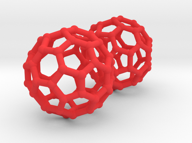 Buckyball Chemistry Molecule Earrings 3d printed