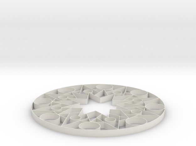 Mandala Shapes - 2 inch 3d printed