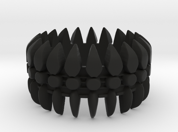 Spine Ring #1, Ring Size 9 3d printed