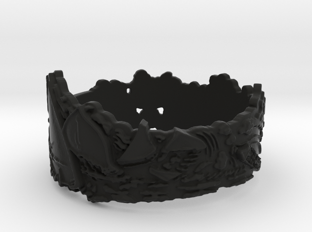 Cloud Ships #1 Ring Size 9 3d printed