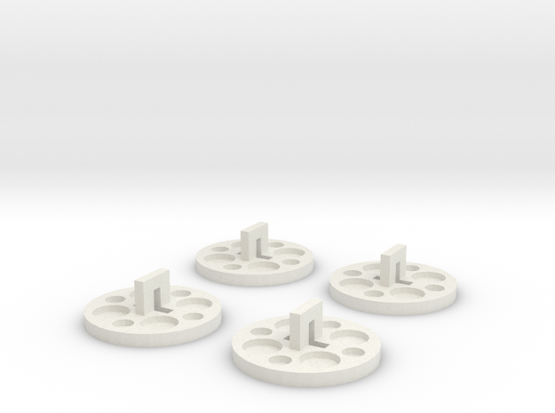120 To 116 Film Spool Adapters, Set of 4 3d printed
