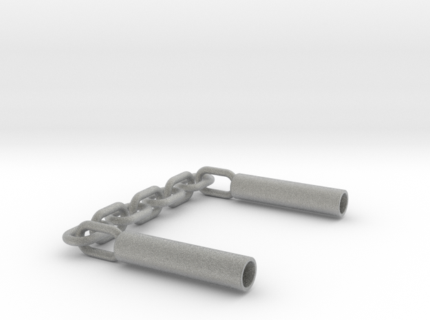 Nunchaku Pen Cap(two linked fighting sticks) 3d printed