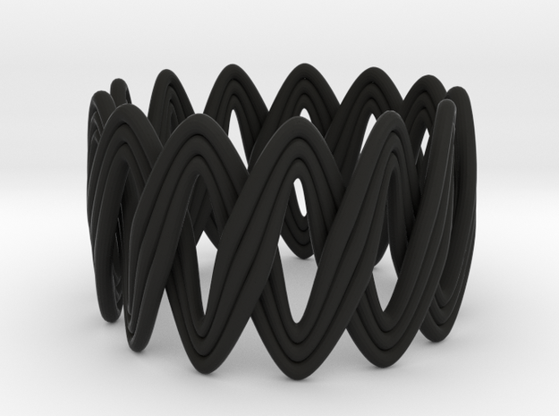 Turk's Head Knot Ring 2 Part X 13 Bight - Size 7 3d printed