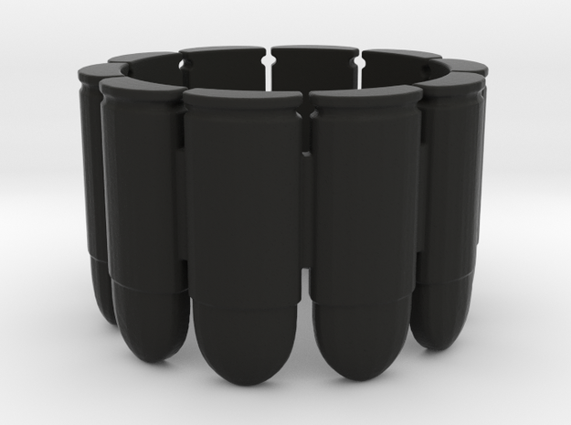 Pistol Bullets, 10, Thick, Ring Size 8 3d printed