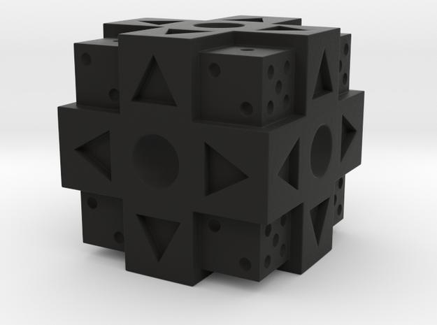 Dpad Gamer Dice 3d printed
