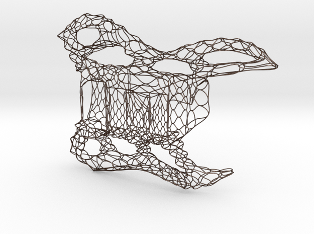 Wire frame guitar body 3d printed