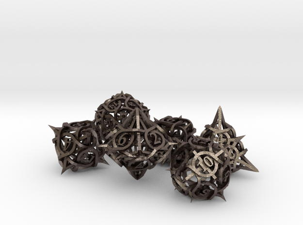 Thorn Dice Ornament Set 3d printed