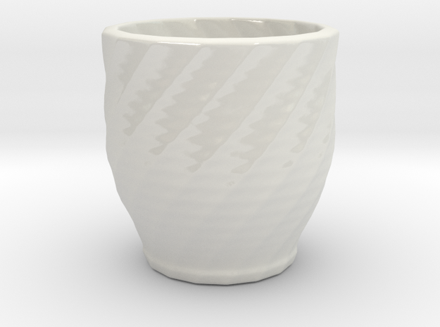 twisted red cap cup 2 3d printed