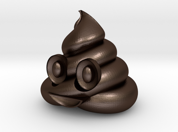 Emoticon Poop emoji 25mmWide Apple iPhone iOS 3d printed