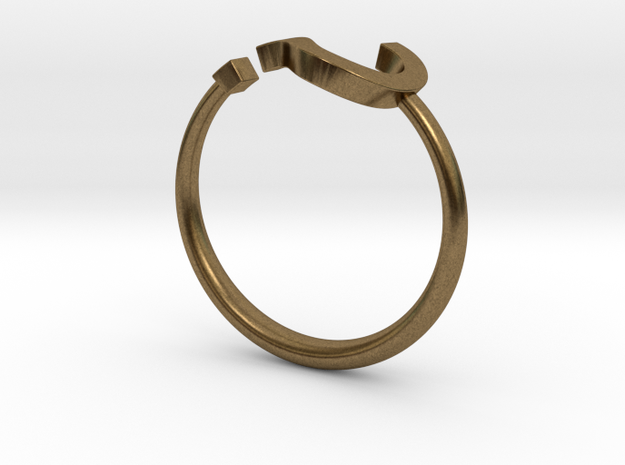 Question Mark Ring Size 11 3d printed