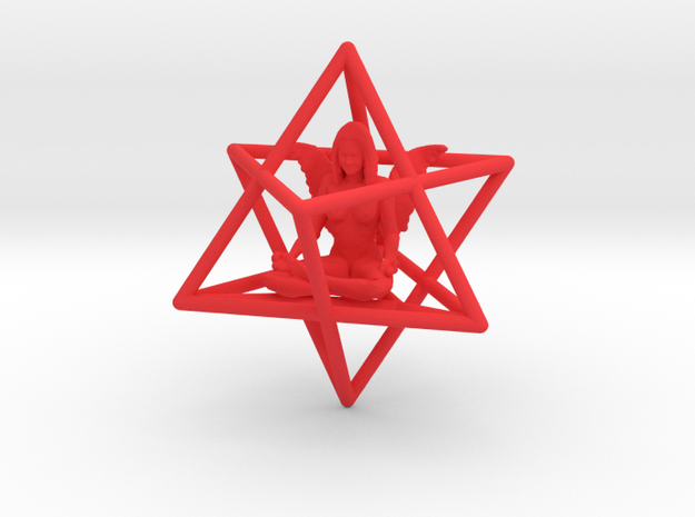 Angel Star Tetrahedron Merkabah 42mm 3d printed
