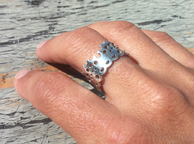 Modern Lace Ring 3d printed