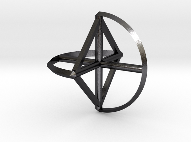 Wireframe Sphericon 3d printed