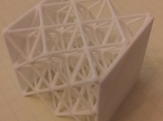 smoothed2 octet truss flats 3d printed