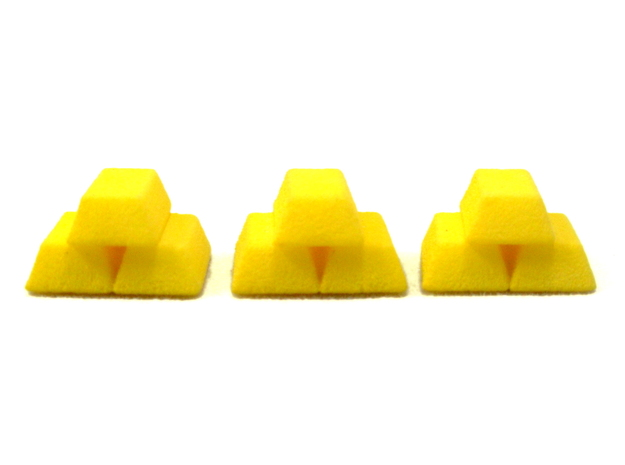 Stacked Gold Bars 3d printed Photo in Yellow Polished