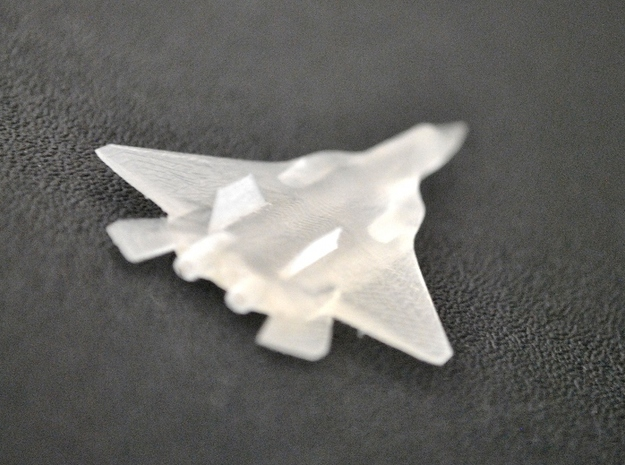 Fighter Jet 3d printed The overall shape is similar to that of a Sukhoi T-50 jet.