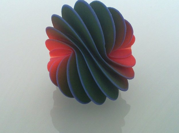 Spiral Fan 3d printed Balanced on it side