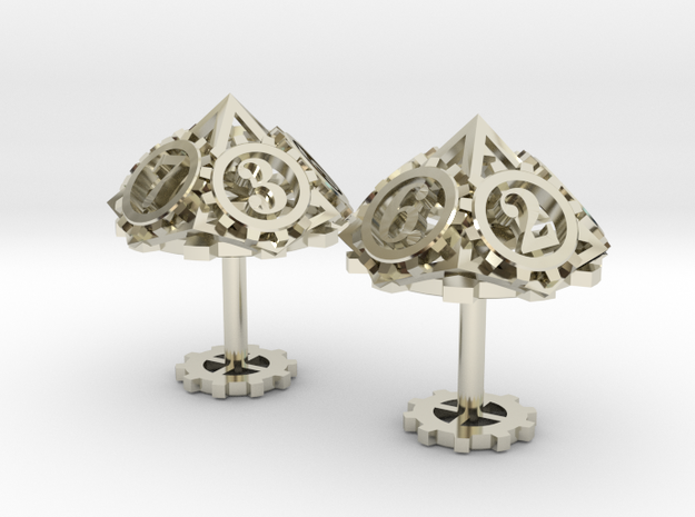 Steampunk Gear Cufflinks 3d printed