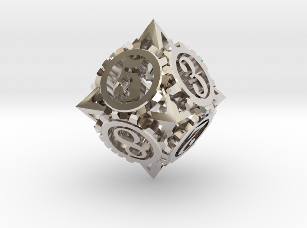 Steampunk Gear d8 3d printed