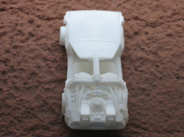 Time Traveling Delorean 3d printed WSF print before I put the door in, back